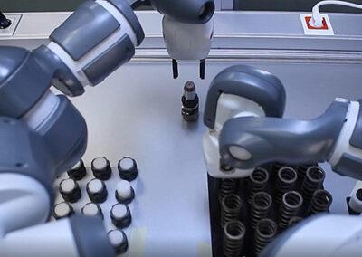 Picking con visión y robot colaborativo de dos brazos